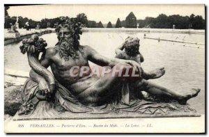 Old Postcard Versailles Parterre d'Eau Bassin du Midi Loire