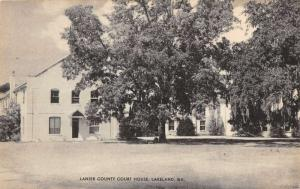 Lanier County Court House Lakeland Georgia Antique Postcard L2672