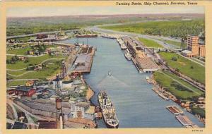 Turning Basin, Ship Channel, Houston, Texas, 30-40s