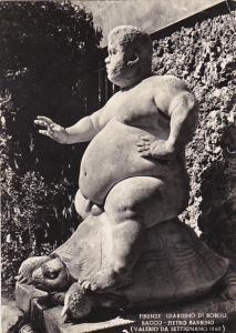 Italy Firenze Giardino Di Boboli Bacco Pietro Barbino