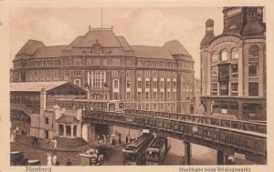 HAMBURG , Germany , 00-10s : Hochbahn beim Rodingsmarkt
