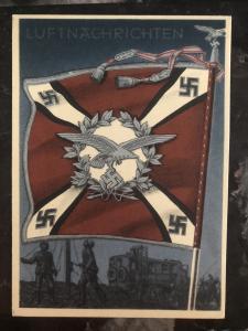 Mint Germany Patriotic Postcard luftnachrichten Air news Whermacht WW2