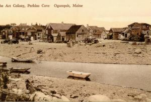 ME - Ogunquit. Early 1900's.  Art Colony at Perkins Cove    (Repro)