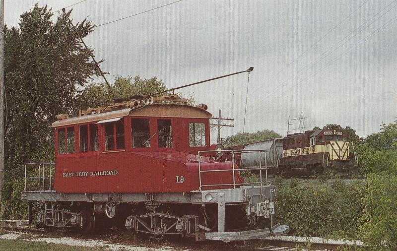 Postcard Locomotive L9 East Troy Electric Railroad Museum