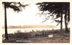 Elk Rapids Michigan~Millers Park~Spencer Bay Bknd~Note on Back~1939 RPPC