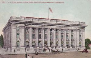 U S Court House Custom House And Post Office Seattle Washington 1908