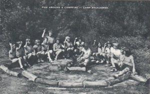 Fun Around A Campfire Camp Sacajawea Boone Iowa Artvue