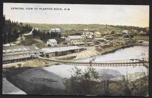 River & Town Plaster Rock New Brunswick CANADA Used c1909