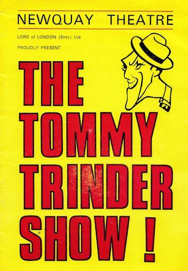 The Tommy Trinder Show at Newquay Theatre Programme