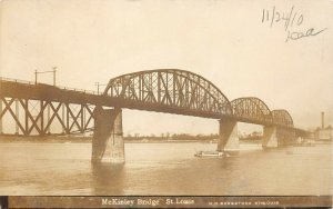 LP07 St. Louis Missouri Postcard RPPC McKinley Bridge
