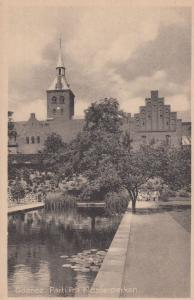 Odense Parti Fra Klosterparken Denmark Old Postcard