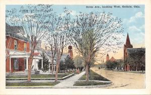 Guthrie Oklahoma~Noble Ave~Looking West~Homes & Churches 1920s Postcard