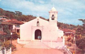 Panama Old Vintage Antique Post Card The Church of Taboga Unused