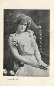Movie TV Star Cinema Isabel Irvin actress Postcard