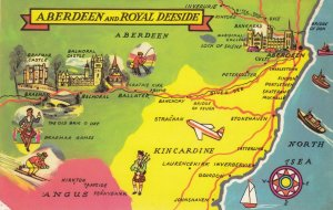 MAP: ABERDEEN , Scotland , UK , 1940-60s