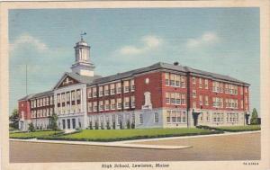 Maine Lewiston High School 1941 Curteich