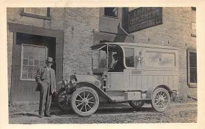 Albany NY James Guild Builder of Funeral Hearse RPPC Postcard