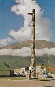 Canada Jasper Indian Totem Pole Near The Canadian National Depot