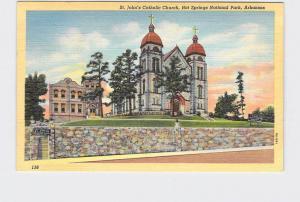 VINTAGE POSTCARD NATIONAL STATE PARK HOT SPRINGS ST JOHNS CATHOLIC CHURCH ARKANS