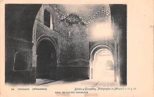 Spain Old Vintage Antique Post Card Sala de las Dos Hermanas Granada Alhambra...