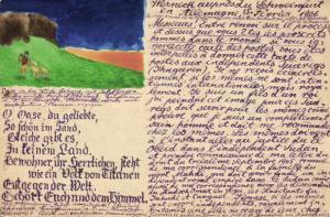 niger, AGADEZ, Sahara with Table Mountain (1906) Hand Painted Postcard   READ!!!