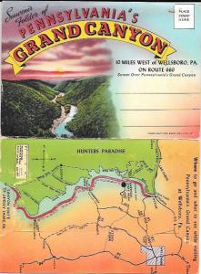 US Pennsylvania's Grand Canyon.  18 great pictures in a post card folder.