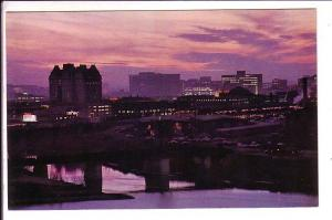 Night Skyline of Downtown, Winnipeg Manitoba
