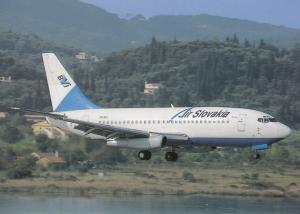 AIR SLOVAKIA, Boeing 737-230, unused Postcard