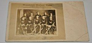 1913-14 Wanderers Hockey Team Dollar Bay Michigan Upper Peninsula