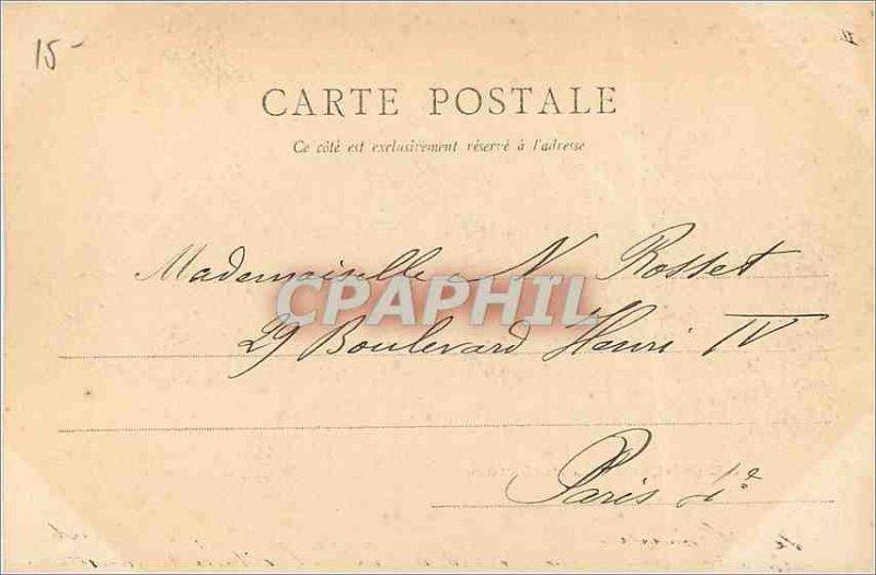 Old Postcard Besancon Prefecture (map 1900)