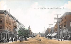 Minot ND Depot Hack (Station Wagon) Dog As Big As Boy~Popcorn Wagon~Main St 1910