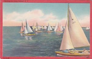 New York Sailing On Long Island 1950