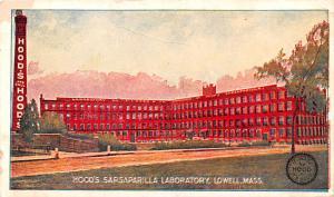 Hood's Sarasparilla Laboratory Advertising Unused