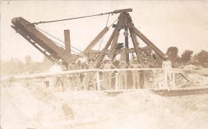D4/ Occuptional Worker RPPC Postcard c1910 Crane Boom Overalls 11