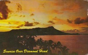 Hawaii Sunrise Over Diamond Head 1961