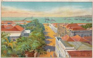 Nectar Tea Company Colombo Antique Advertising Postcard