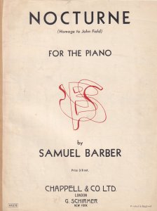 Nocturne For The Piano Samuel Barber Olde Sheet Music