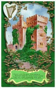15022 Ireland Cork 1912 Blarney Castle , Gold leaf Harp