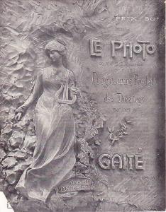 Le Maitre de Forges Program with Two Post Cards 1905