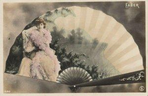RP: Art Nouveau Fan Portrait , PU-1907 ; FABER