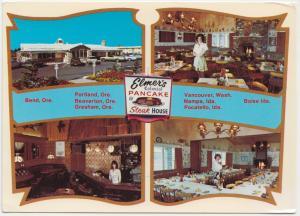 ELMER'S COLONIAL PANCAKE & STEAK HOUSE, unused Postcard
