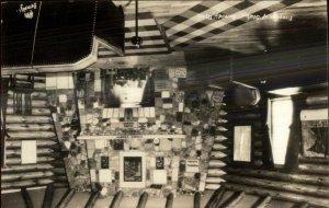 Bemidji MN Fireplace of State Real Photo Postcard c1930 xst