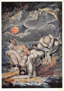 Visions of the Daughters of Albion William Blake Postcard Unused