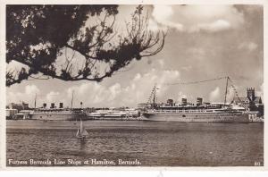 RP: Ocean Liner , Furness Bermuda Line , HAMILTON , Bermuda , PU-1938