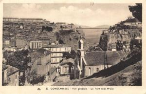 Algeria Constantine General view The Bridge Sidi M'Cid General view Postcard