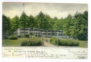 Sacandaga Park to Gloversville, New York 1905 HAND COLORED PC, Adirondack Inn