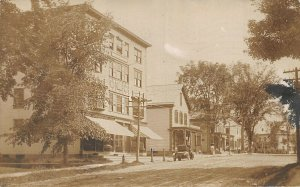 Bethel ME Business District Edward King Store New Baby Real Photo Postcard.