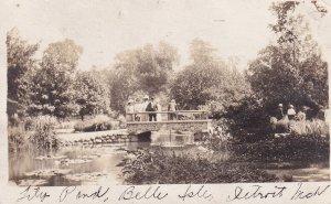 RP: Lily Pond , Belle Isle , DETROIT , Michigan , PU-1911