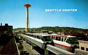 Washington Seattle The Alweg Monorail and Space Needle