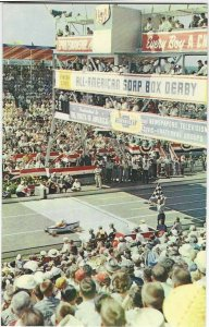 Vintage Postcard, Soap box Derby downs, Akron, Ohio